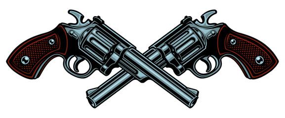 Vector illustration with guns.