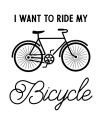 I want to ride my bicycle vector illustration