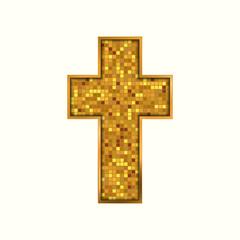 Religion cross icon. Vector illustration