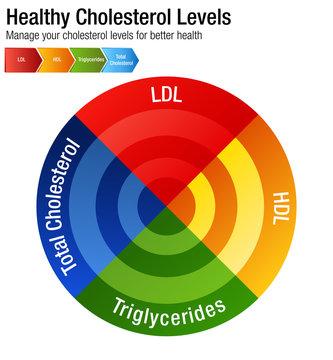 Total Blood Cholesterol HDL LDL Triglycerides Chart