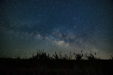 The Milky Way Galaxy Asia Thaikand