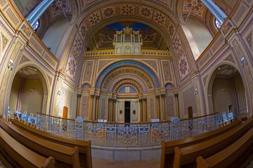 Inside of the Neolog Synagogue Zion. Oradea, Romania