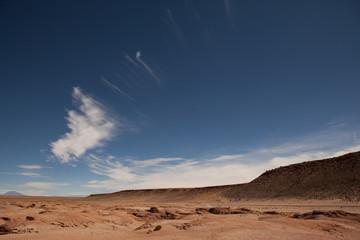 The wasteland behind the Uyuni desert