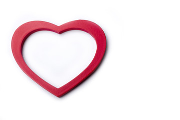 Big Red Heart Isolated On White Background