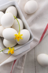 eggs with daffodil