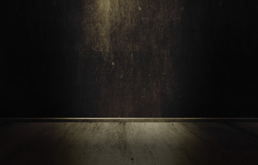 Background of a wall, a cellar, a ray of light