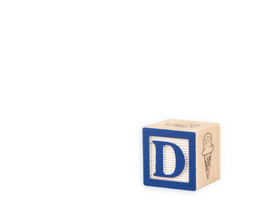 Toy Alphabet Block with Letter D
