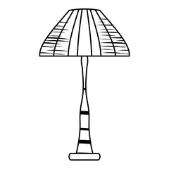 sketch of House lamp icon over white background, vector illustration