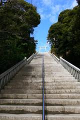 大洗磯前神社。大洗 茨城 日本。三月上旬。
