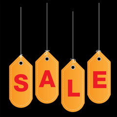 sale tags on background vector image illustration