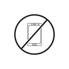 Do not use mobile phone icon