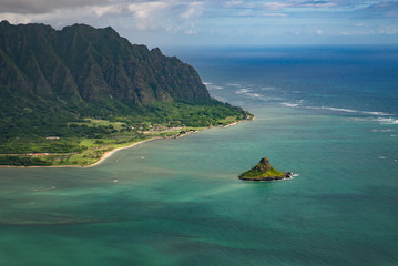 Aerial Photograph of the Island of Oahu