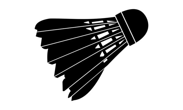 silhouette image one shuttlecock