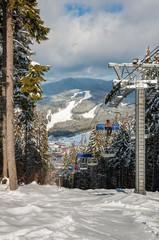 Winter ski resort in The Ukrainian Carpathian mountains, Bukovel