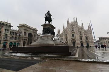 ミラノの雪