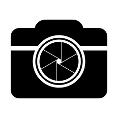 Camera shutter icon symbol and shutter blade of camera vector illustration