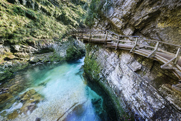 Vintgar waterfall and canyon, Slovenia
