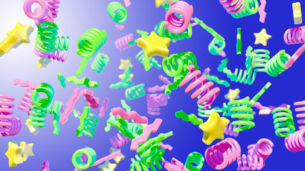 Colorful abstract background. 3D render