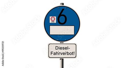 diesel fahrverbot euro 6 stra enschild stock photo and. Black Bedroom Furniture Sets. Home Design Ideas
