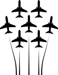 Airplane Flying Formation, Air Show Display, The Disciplined Flight
