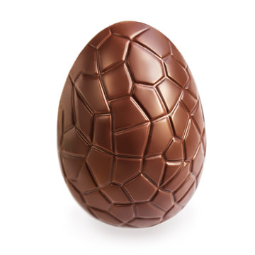 Chocolate Easter Eggs on dark Wooden Background