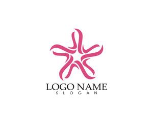 Star falcon Logo Template vector icon