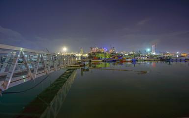 Night scenery of Fisherman jetty at Kuala Terengganu.