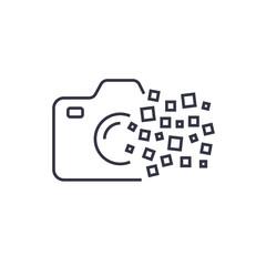Camera photography logo icon template. Digital camera concept