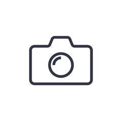 Camera Icon in trendy flat style isolated on colorful background. Camera symbol for your web site design, logo, app, UI. Vector illustration