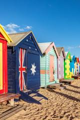 Brighton bathing boxes in Melbourne Australia