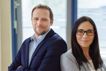 Smart successful business partners