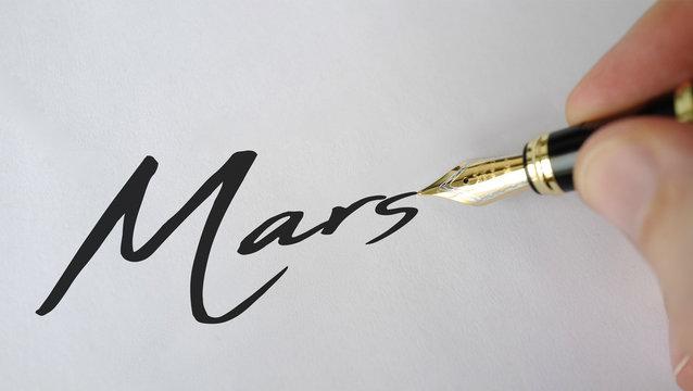 mars stylo plume