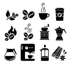 Coffee icon set vector