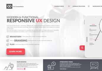 Modern Minimalist Branding and Design Website Layout