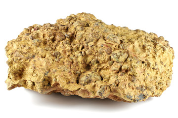 bauxite from Gant, Hungary isolated on white background