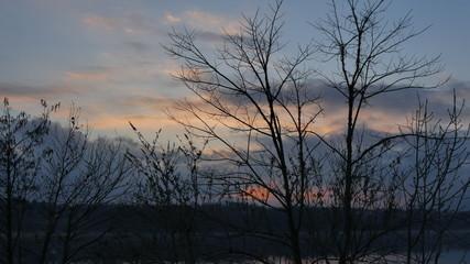 Lago di Annone al tramonto