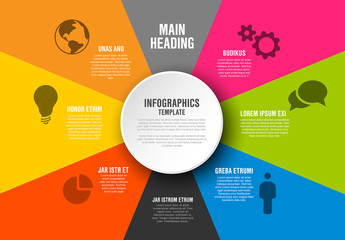 Brightly Colored Inforgraphic Layout