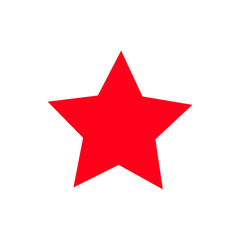 red star - vector icon