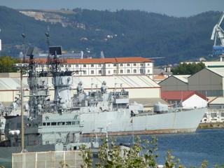 Astilleros de el Ferrol ,ciudad  de la provincia de La Coruña, en Galicia (España)