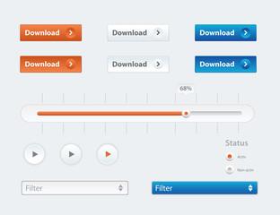 Vector design ui kit for webdesign