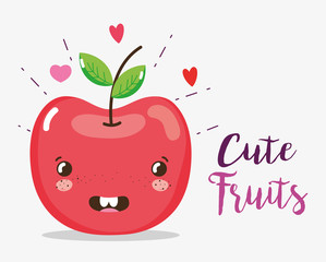 Cute fruits cartoons