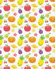 Cute fruits collection