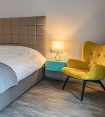 Small cozy bedroom interior