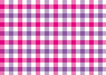 ガンクラブチェック-紫とピンク