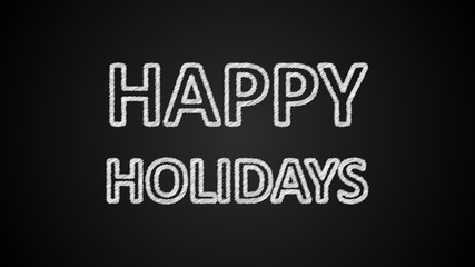 Happy holidays text, 3d rendering backdrop, computer generating, can be used for holidays festive design