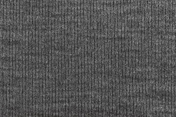 Gray Knitted Texture. Blank Background