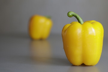 pepper, vegetable, food, isolated, yellow, red, paprika, white, healthy, bell, peppers, green, fresh, sweet, vegetarian, ingredient, orange, color, organic, bell pepper, ripe, vegetables, diet, raw, e