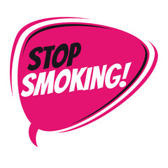 stop smoking retro speech bubble