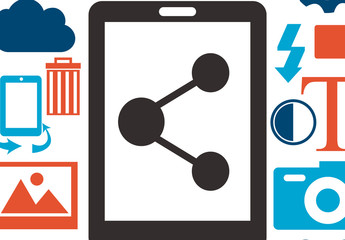3-Color Smartphone and Multimedia Icons