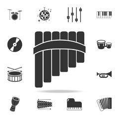 tuning fork icon. simple tonometer icon. Detailed set icons of Music instrument element icons. Premium quality graphic design. One of the collection icons for websites, web design